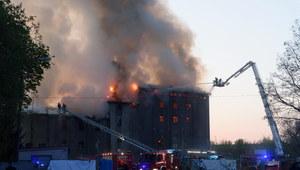 Poznań: Pożar młyna. 15 zastępów w akcji