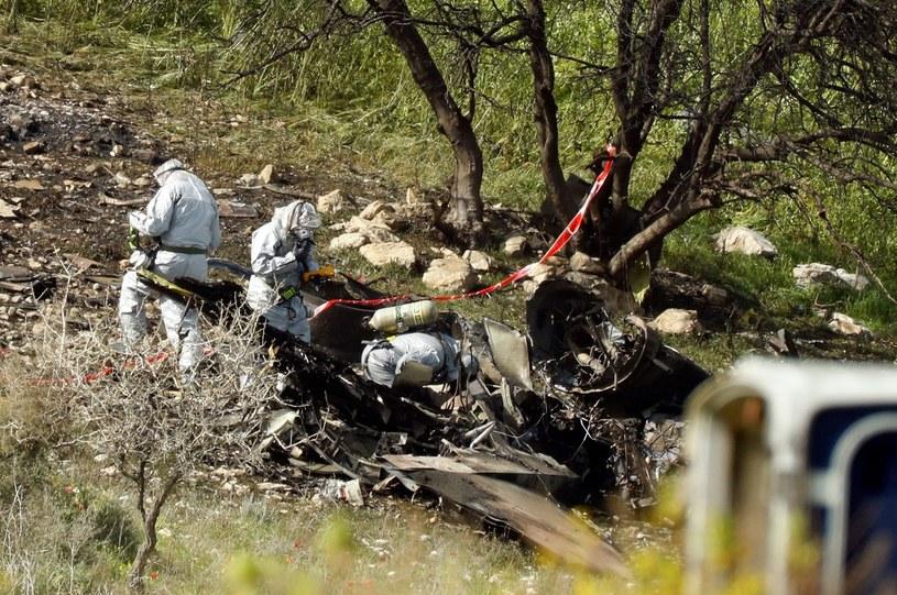 Pozostałości po zestrzelonym F-16 /AFP PHOTO / Jack GUEZ /East News