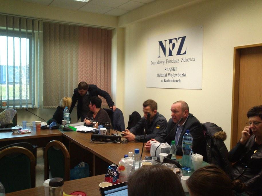 Pracownicy placówki święta chcą spędzić w siedzibie NFZ /Anna Kropaczek /RMF FM