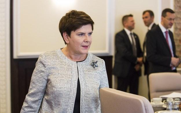 Premier Beata Szydło. Fot. Andrzej Hulimka /Reporter