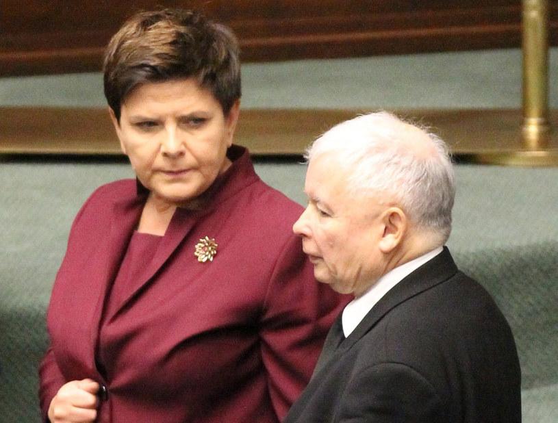 Premier Beata Szydło i prezes Jarosław Kaczyński /Robert Ostrowski /East News