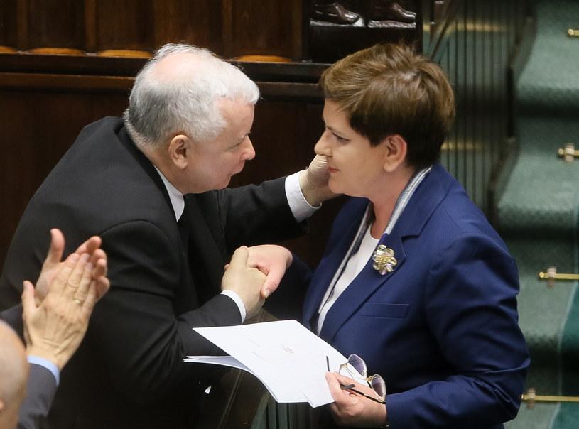 Premier Beata Szydło i prezes PiS Jarosław Kaczyński /Paweł Supernak /PAP