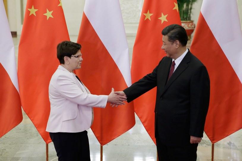 Premier Beata Szydło i prezydent Chin Xi Jinping /PAP/EPA
