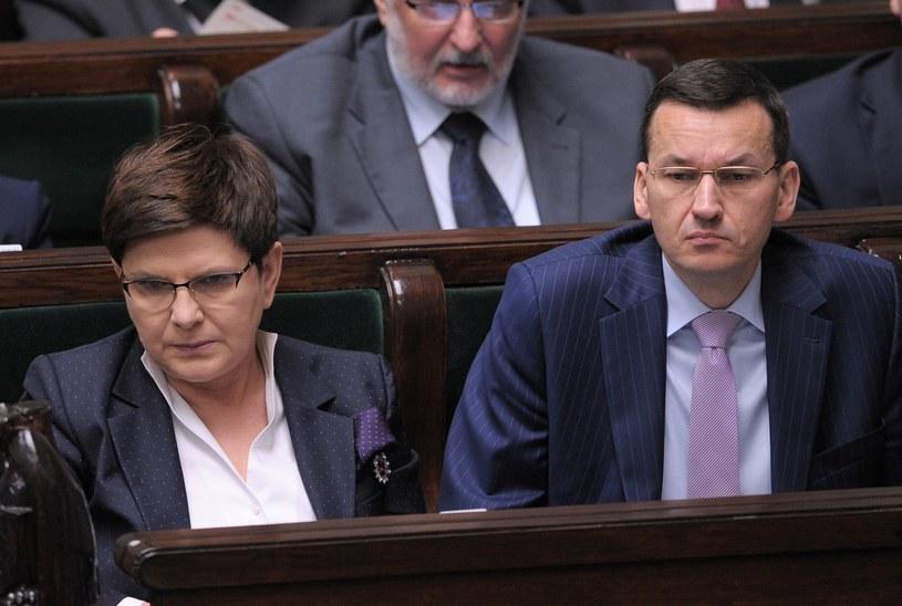 Premier Beata Szydło i wicepremier Mateusz Morawiecki /Jan Bielecki /East News
