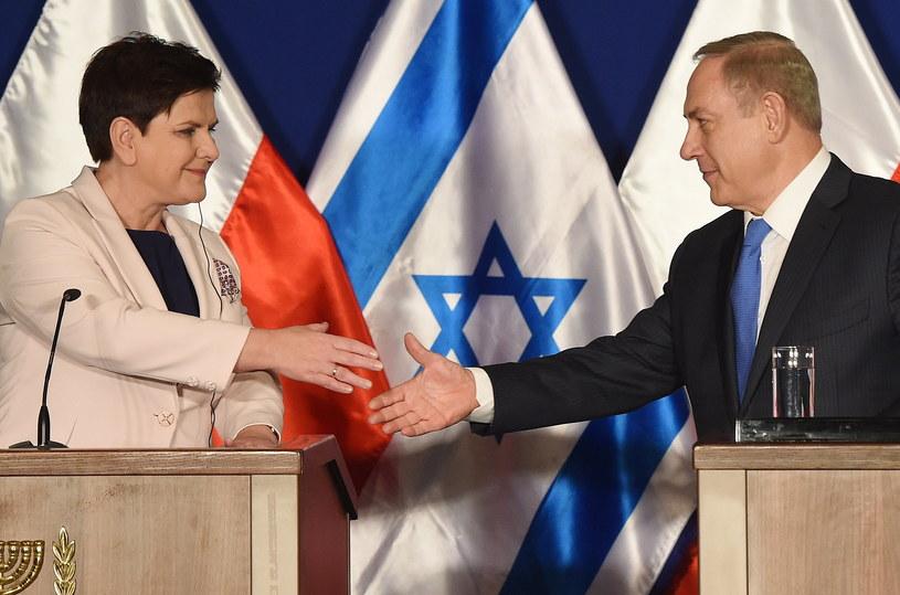 Premier Beata Szydło oraz premier Izraela Benjamin Netanjahu /Radek Pietruszka /PAP