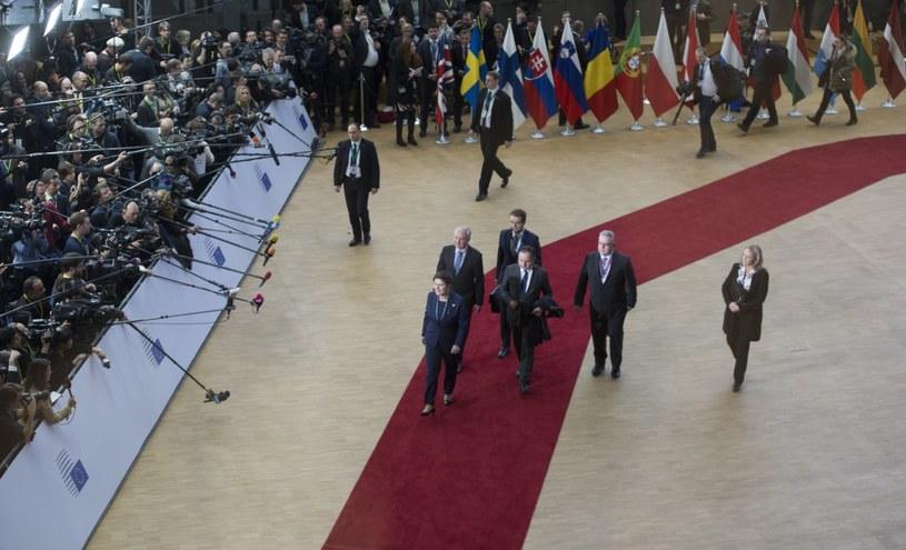 Premier Beata Szydło w Brukseli /PAP/EPA
