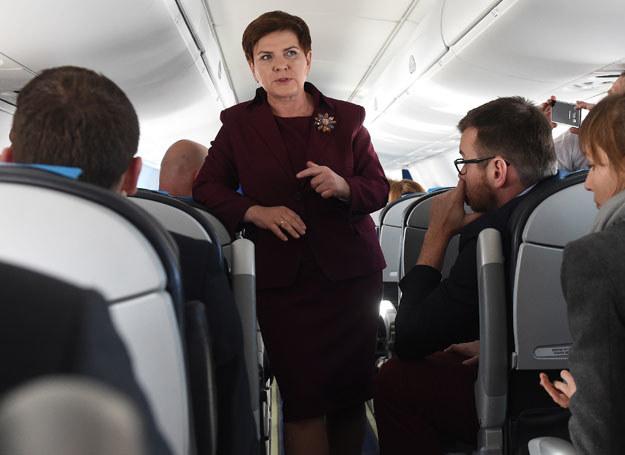 Premier Beata Szydło w drodze do Brukseli /Radek Pietruszka /PAP