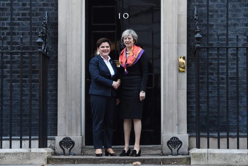 Premier Beata Szydło z wizytą na Downing Street /ANDY RAIN /PAP/EPA