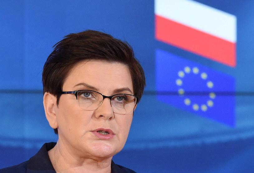 Premier Beata Szydło zapowiedziała, że podpisze Deklarację Rzymską /Radek Pietruszka /PAP