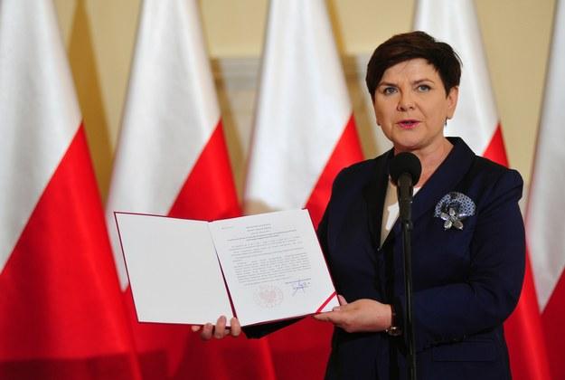 Premier Beata Szydło /fot. Piotr Smoliński /Reporter