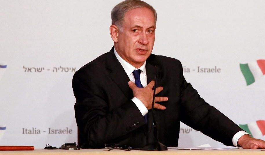 Premier Benjamina Netanjahu /FABIO CAMPANA /PAP/EPA