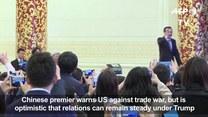 Premier Chin ostrzega USA przed wojną handlową