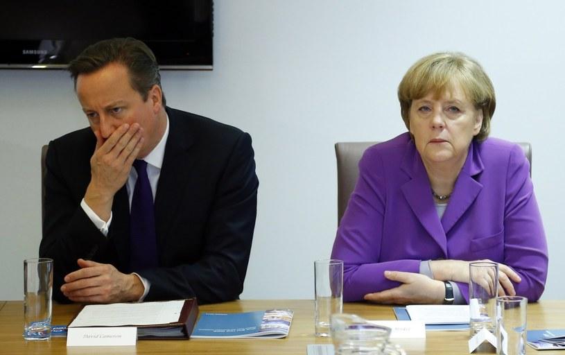 Premier David Cameron podpisał dwa miesiące temu wspólną unijną deklarację potępiającą amerykański podsłuch kanclerz Merkel /AFP