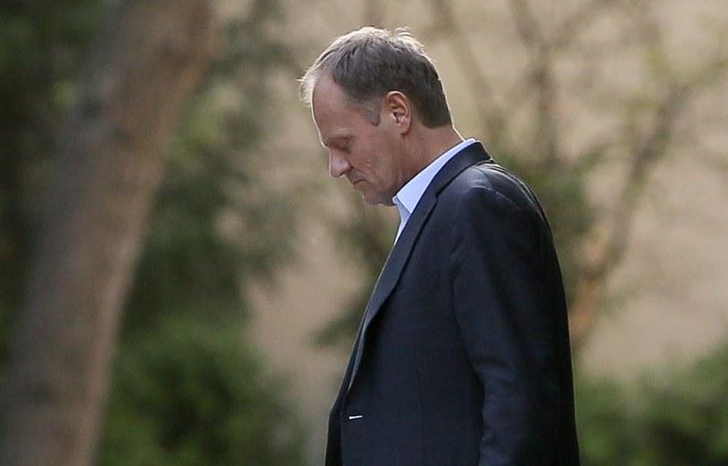 Premier Donald Tusk opuszcza KPRM po zakończeniu posiedzenia Zarządu Krajowego PO /Paweł Supernak /PAP