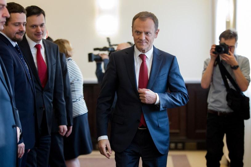 Premier Donald Tusk. /Leszek Szymański /PAP