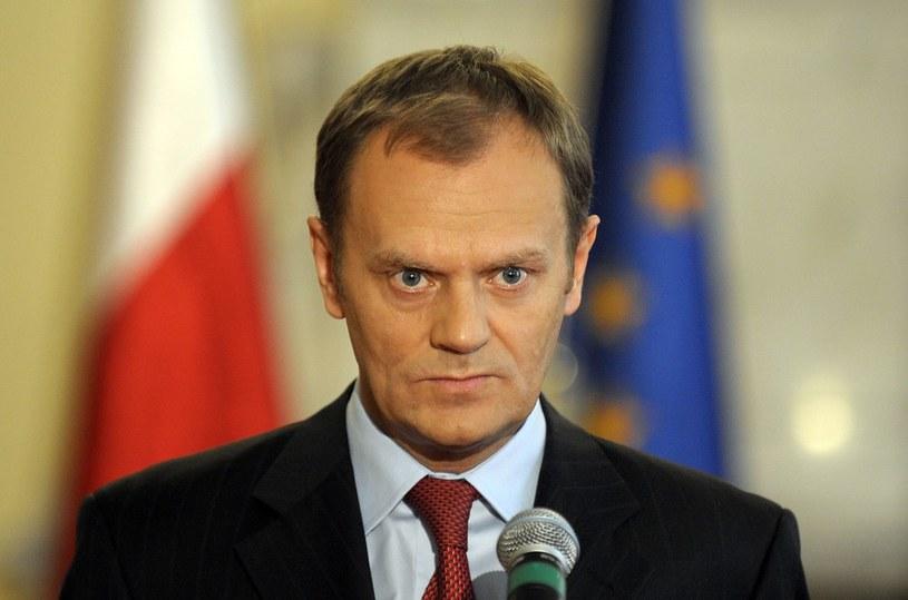 Premier Donald Tusk. /Donat Brykczyński /Reporter