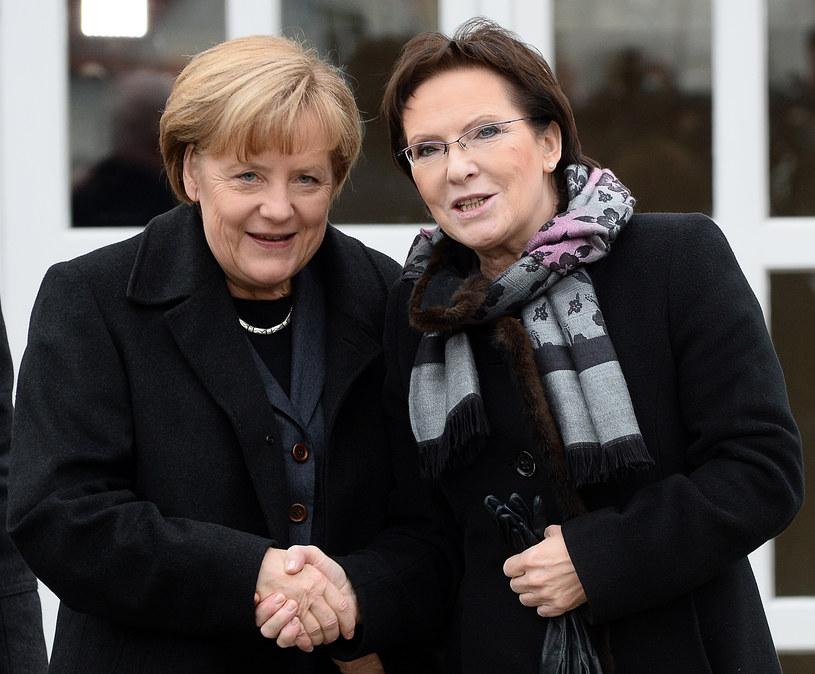 Premier Ewa Kopacz będzie rozmawiać z kanclerz Angelą Merkel /AFP