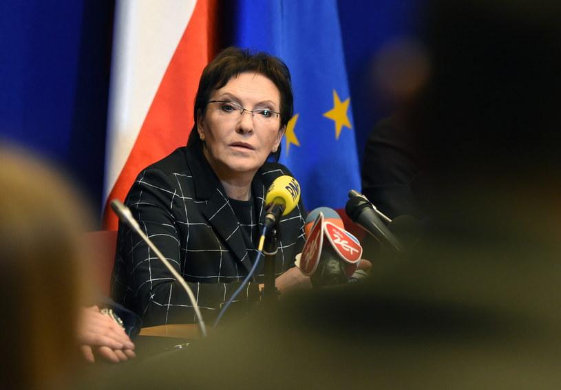 Premier Ewa Kopacz na konferencji prasowej /Radek Pietruszka /PAP