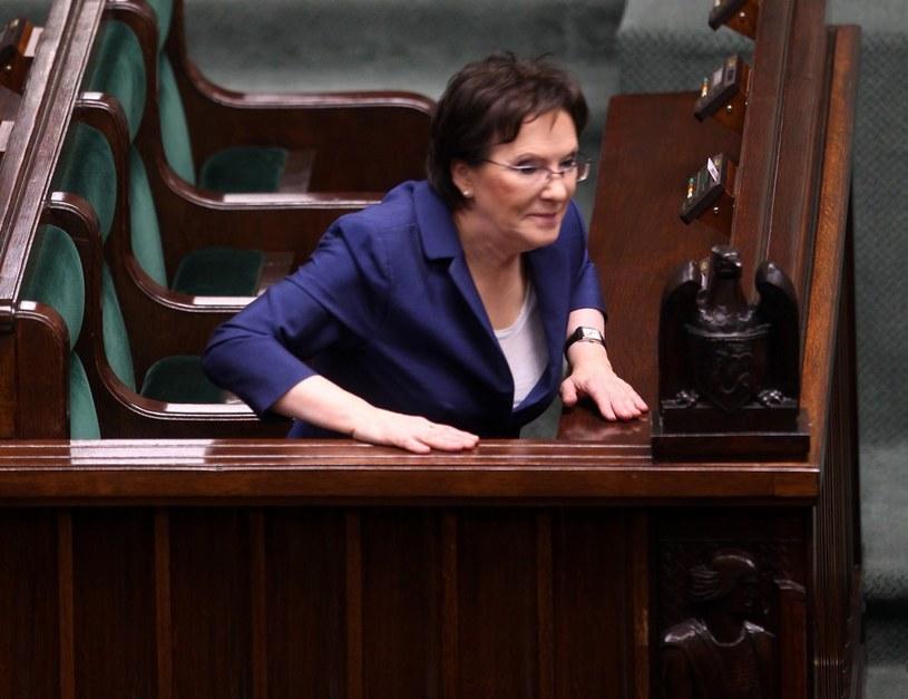 Premier Ewa Kopacz na posiedzeniu Sejmu /Stanisław Kowalczuk /East News