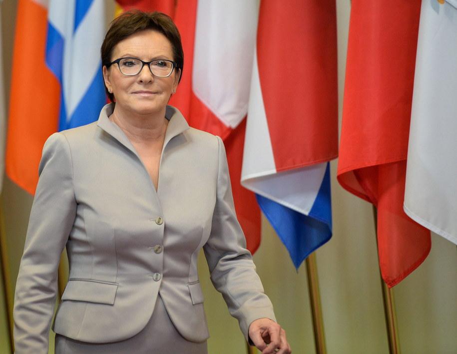 Premier Ewa Kopacz /STEPHANIE LECOCQ  /PAP/EPA
