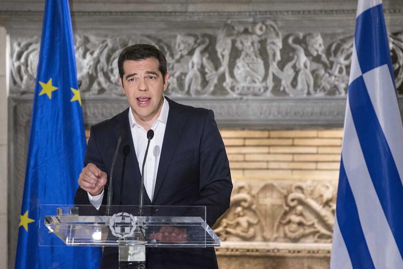 Premier Grecji Aleksis Cipras w przemówieniu do narodu po ogłoszeniu wyników referendum /ANDREA BONETTI/PRIME MINISTER OF GREECE PRESS OFFICE/HANDOUT /PAP/EPA