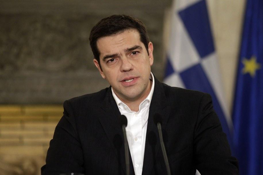 Premier Grecji Aleksis Cipras / ORESTIS PANAGIOTOU    /PAP/EPA