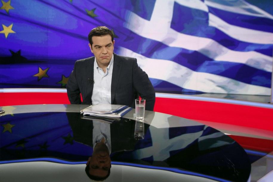 Premier Grecji Aleksis Cipras /ALEXANDROS VLACHOS /PAP/EPA