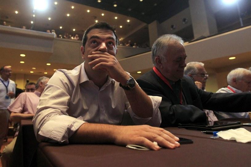 Premier Grecji Aleksis Cipras /PAP/EPA