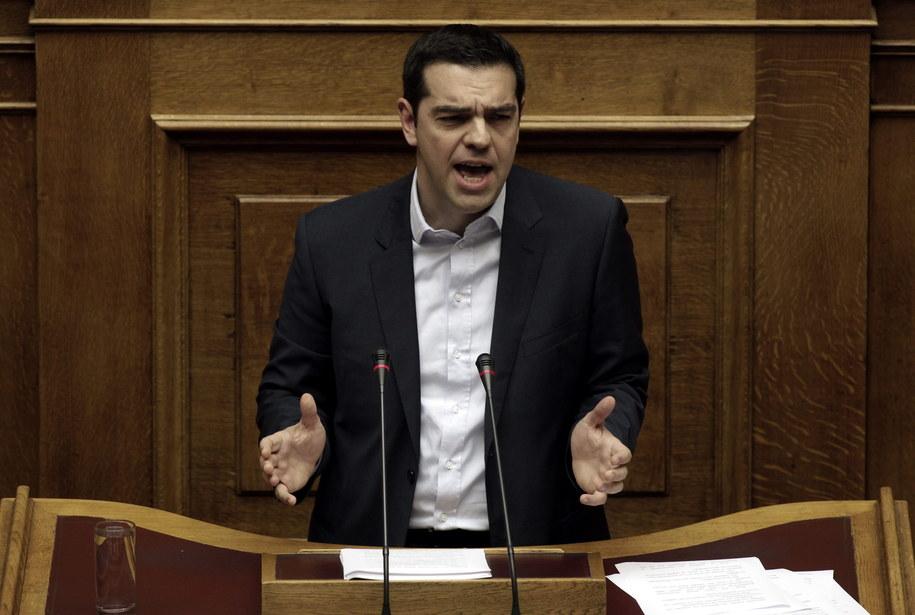 Premier Grecji Alexis Cipras /YANNIS KOLESIDIS /PAP/EPA