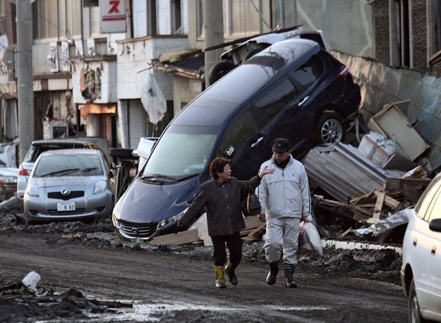 """Premier Japonii Naoto Kan nazwał sejsmiczny kataklizm """"tragedią narodową bez precedensu"""" /AFP"""