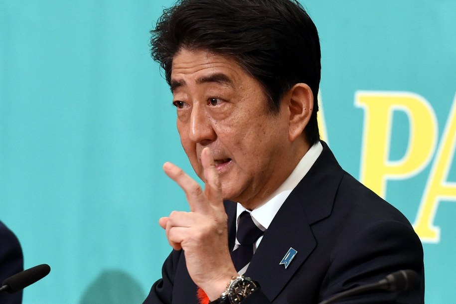 Premier Japonii Shinzo Abe /MA PING / POOL /PAP/EPA