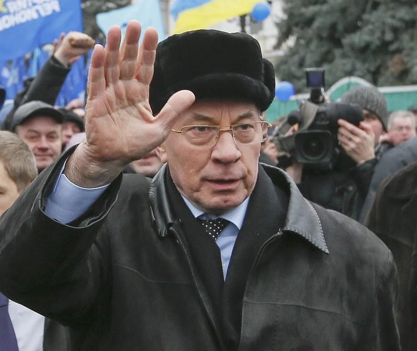 Premier Mykoła Azarow podał się do dymisji /PAP/EPA
