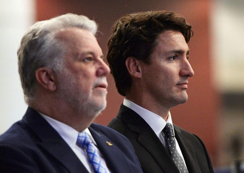 Premier Quebecu Philippe Couillard i premier Kanady Justin Trudeau /AFP