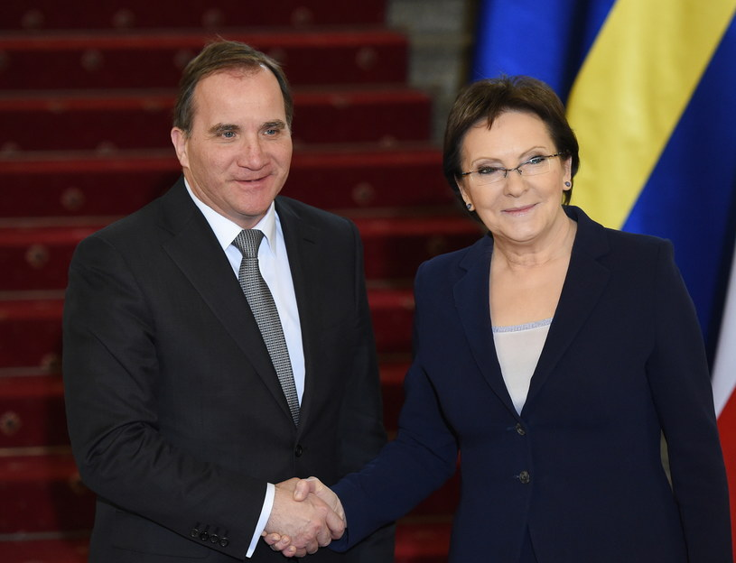 Premier RP Ewa Kopacz  i premier Szwecji Stefan Loefven /Radek Pietruszka /PAP