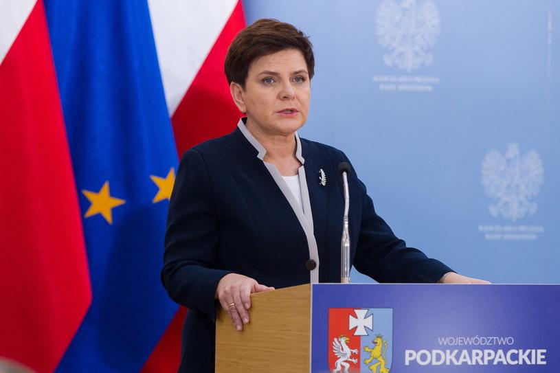 Premier Szydło w Łańcucie /Maciej Goclon /PAP