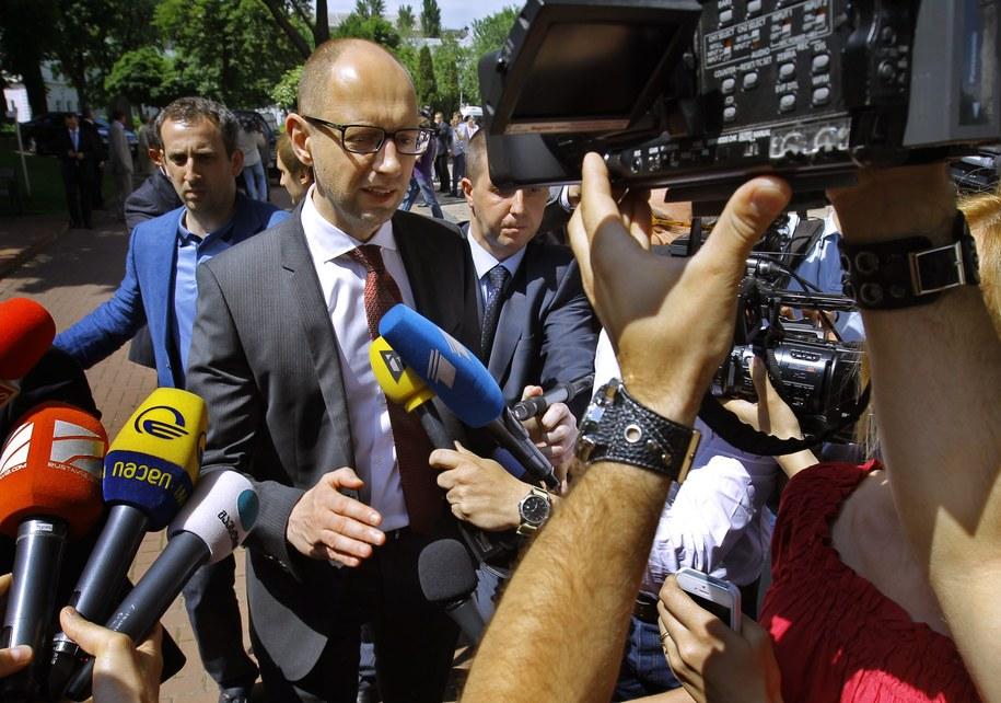 Premier Ukrainy Arsenij Jaceniuk /ROBERT GHEMENT /PAP/EPA