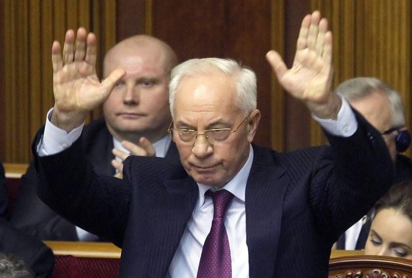 Premier Ukrainy Mykoła Azarow podał się do dymisji /PAP/EPA