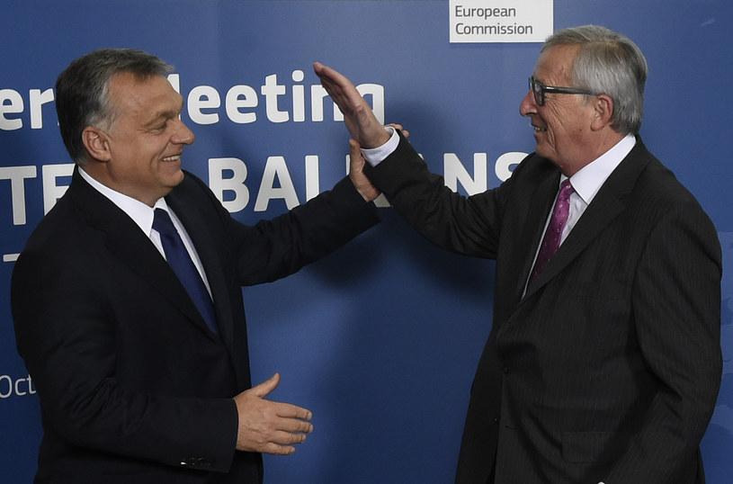 Premier Węgier Viktor Orban i szef KE Jean-Claude Juncker /AFP