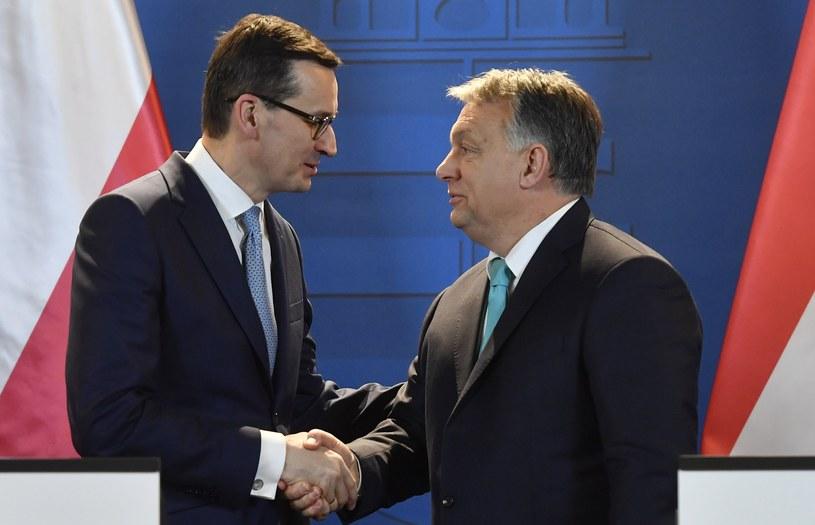 Premierzy: Mateusz Morawiecki i Viktor Orban /TIBOR ILLYES HUNGARY OUT /PAP/EPA
