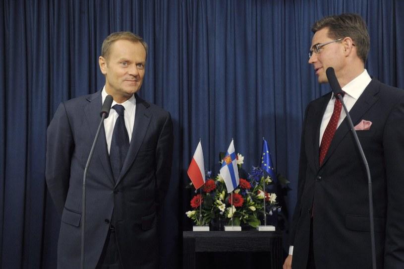 Premierzy Polski i Finlandii w Gdańsku /AFP