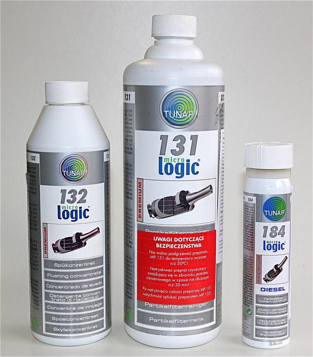 Preparaty do czyszczenia filtra (131), jego płukania (132) oraz środek przeznaczony wyłącznie do aut z filtrem suchym (184) /Motor