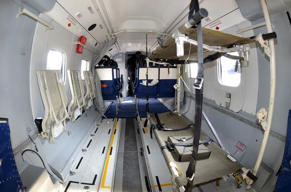 Prezentacja maszyny M28 Skytruck oraz jej wnętrza w Medellin w Kolumbii / inf. prasowa /&nbsp
