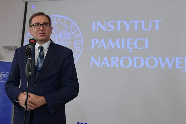 Prezes Instytutu Pamięci Narodowej Jarosław Szarek /PAP