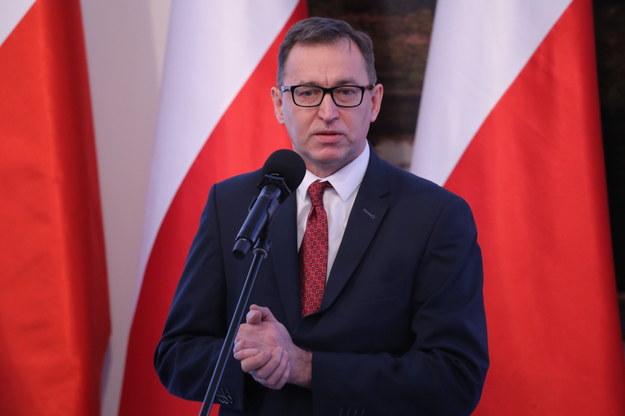 Prezes IPN Jarosław Szarek /Tomasz Gzell   /PAP