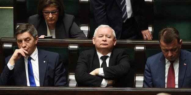 Prezes Jarosław Kaczyński w Sejmie /Radek Pietruszka /PAP