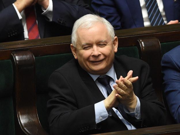 Prezes Jarosław Kaczyński /Radek Pietruszka /PAP