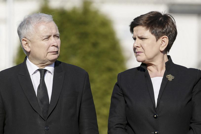 Prezes PiS Jarosław Kaczyński i premier Beata Szydło /Andrzej Iwańczuk /Reporter