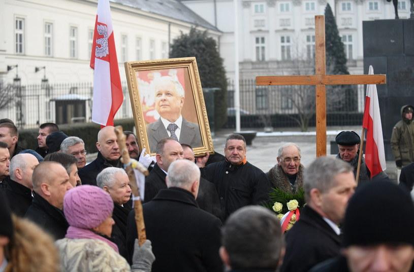 Prezes PiS Jarosław Kaczyński i wicemarszałek Sejmu Joachim Brudziński /Bartłomiej Zborowski /PAP