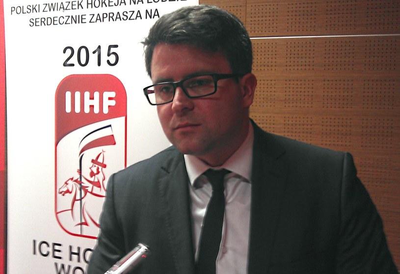 Prezes PZHL-u Dawid Chwałka. /Michał Białoński /INTERIA.PL