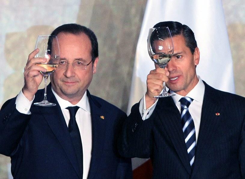 Prezydenci Francji i Meksyku /MARIO GUZMAN    /PAP/EPA
